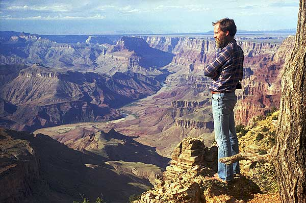 A young Chris Brown in the Grand Canyon
